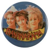 Bananarama - 'Group Blue' Button Badge